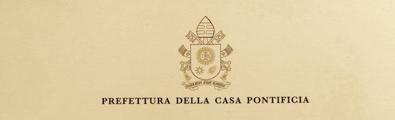 Casa Pontificia udienza Papa Francesco