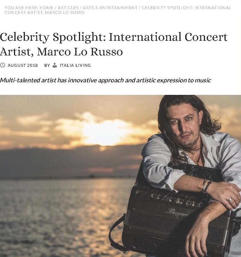 Celebrity Spotlight_ International Concert Artist, Marco Lo Russo Italia Living