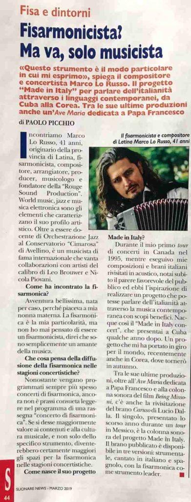 Fisa dintorni Marco Lo Russo Paolo Picchio Suonare News Marzo 2019