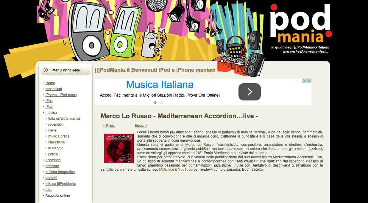 IPodmania Dicembre 2008 Mediterranean Accordion by Marco Lo Russo