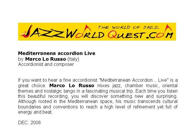 JazzWorldQuest Mediterranean Accordion by Marco Lo Russo