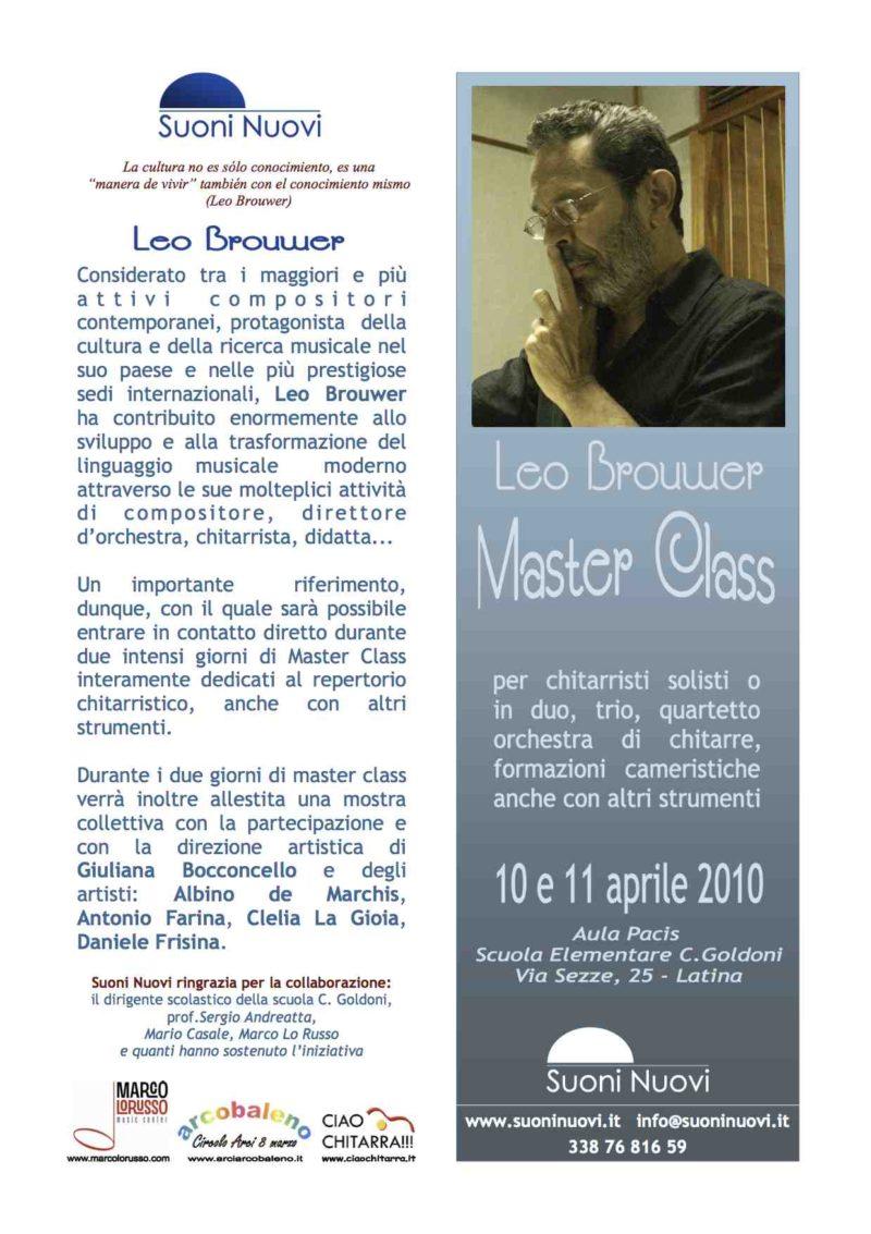 Leo Brouwer Masterclass