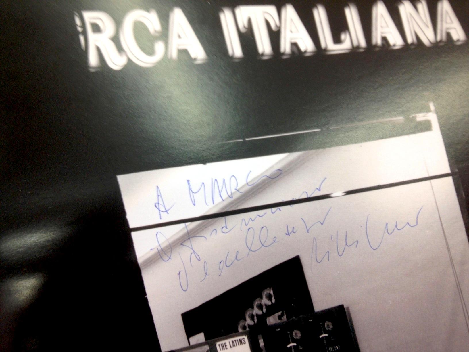 Lilli Greco (produttore di Paolo conto e molti altri alla RCA) a Marco Lo Russo aka Rouge. Il fisarmonicista d'eccellenza