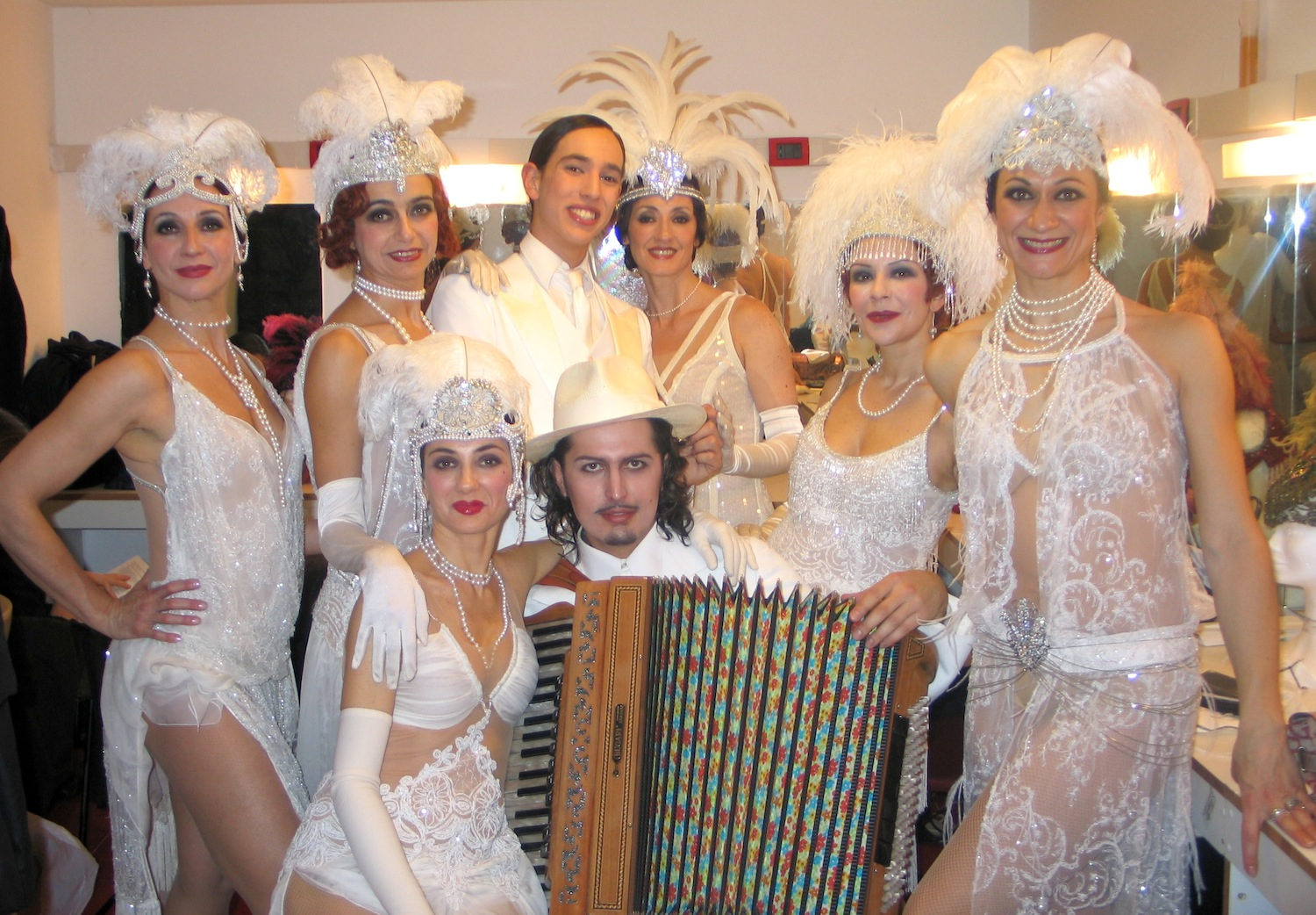 Marco Lo Russo with dancers Rome Opera House