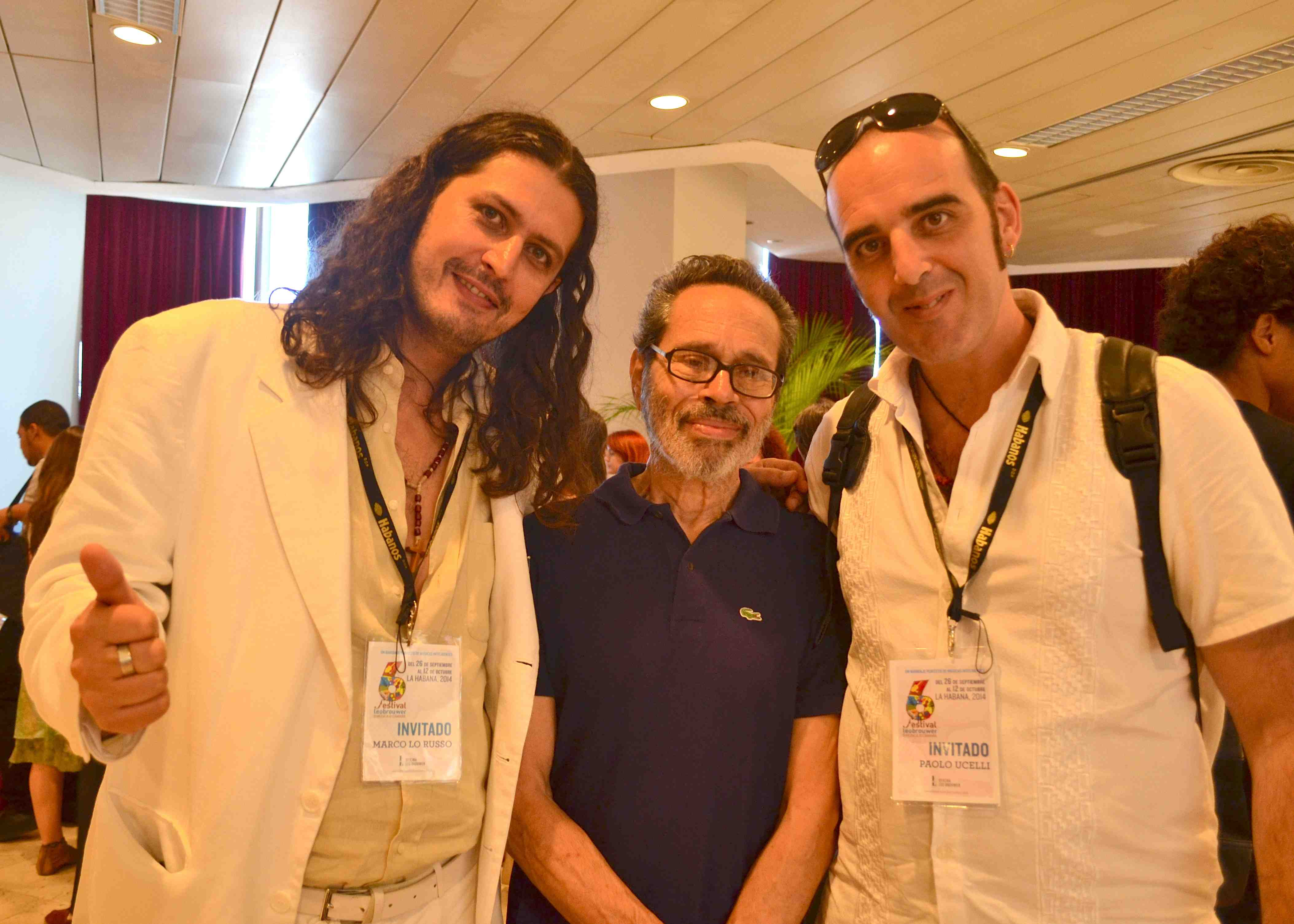 Marco Lo Russo with Leo Brouwer and Paolo Uccelli
