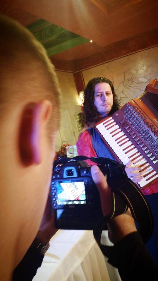 Marco Lo Russo aka Rouge during the video shooting by Artur Gozt