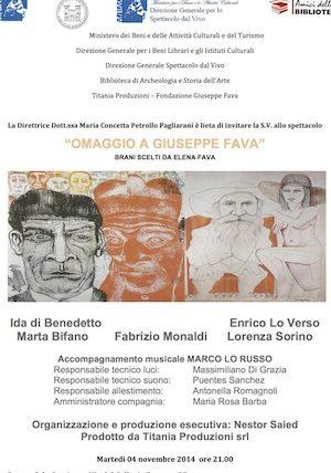 Omaggio a Giuseppe Fava