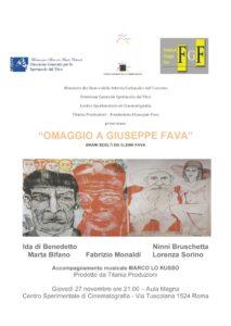 Omaggio a Giuseppe Fava Centro sperimentale di Cinematografia Roma
