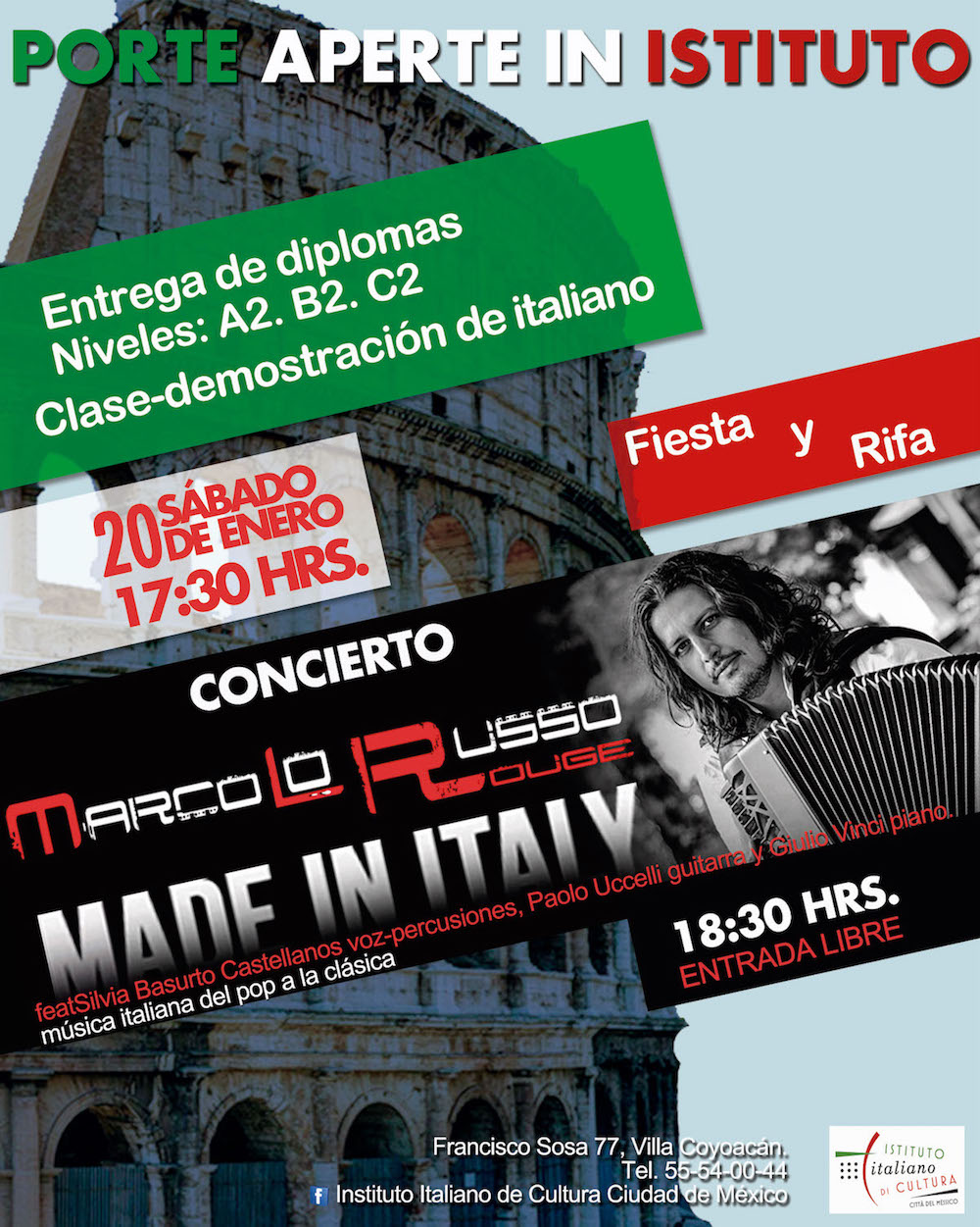 Made in Italy concert at Italian Institute of Culture, Mexico City ...