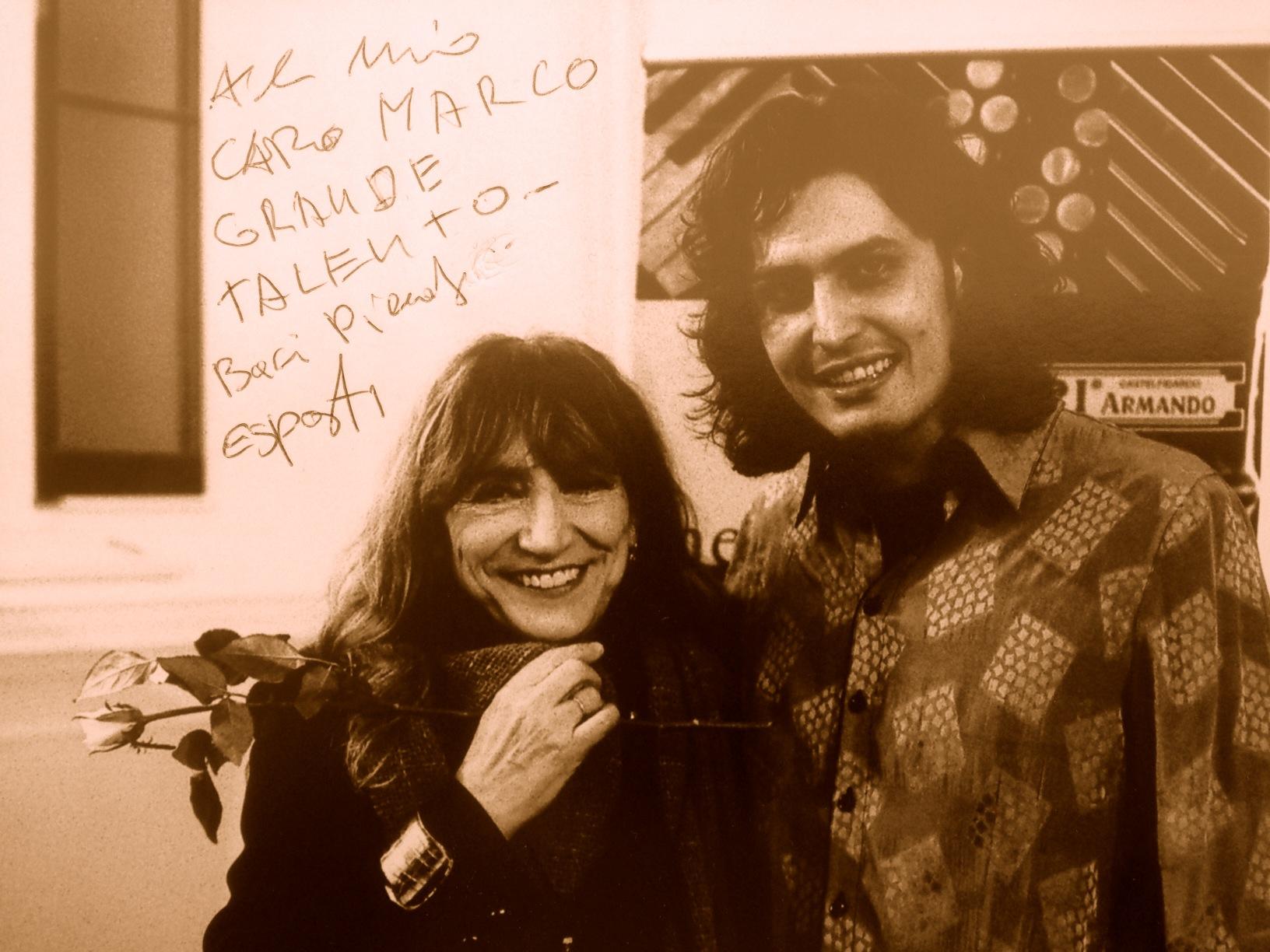 to my dear Marco Lo Russo. Great Talent. Kisses Piera Degli Esposti