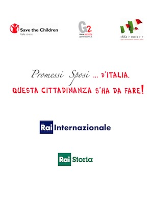 Promessi sposi italia RAI G2 Save the children