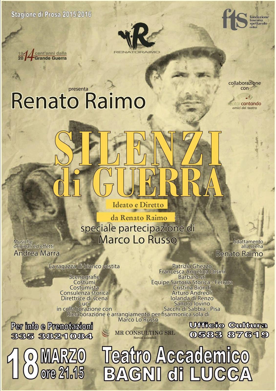 Renato Raimo e Marco Lo Russo in Silenzi di Guerra