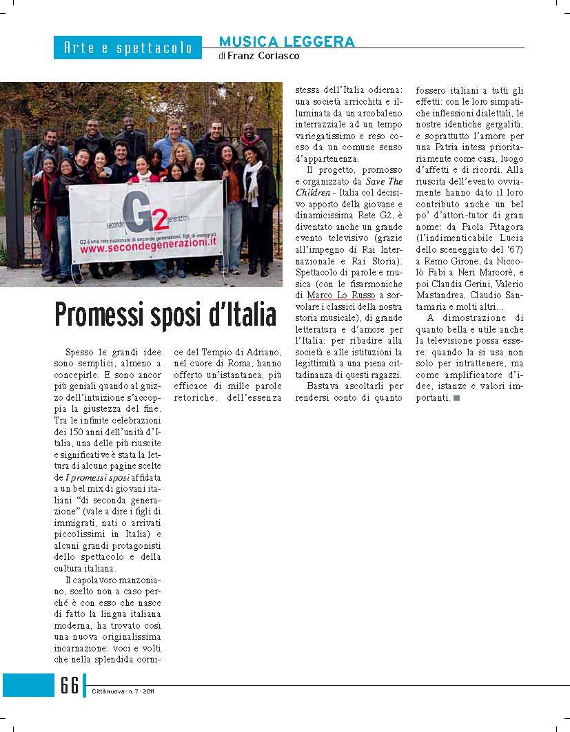 Rivista citta nuova Promessi Sposi d'Italia_Marco Lo Russo