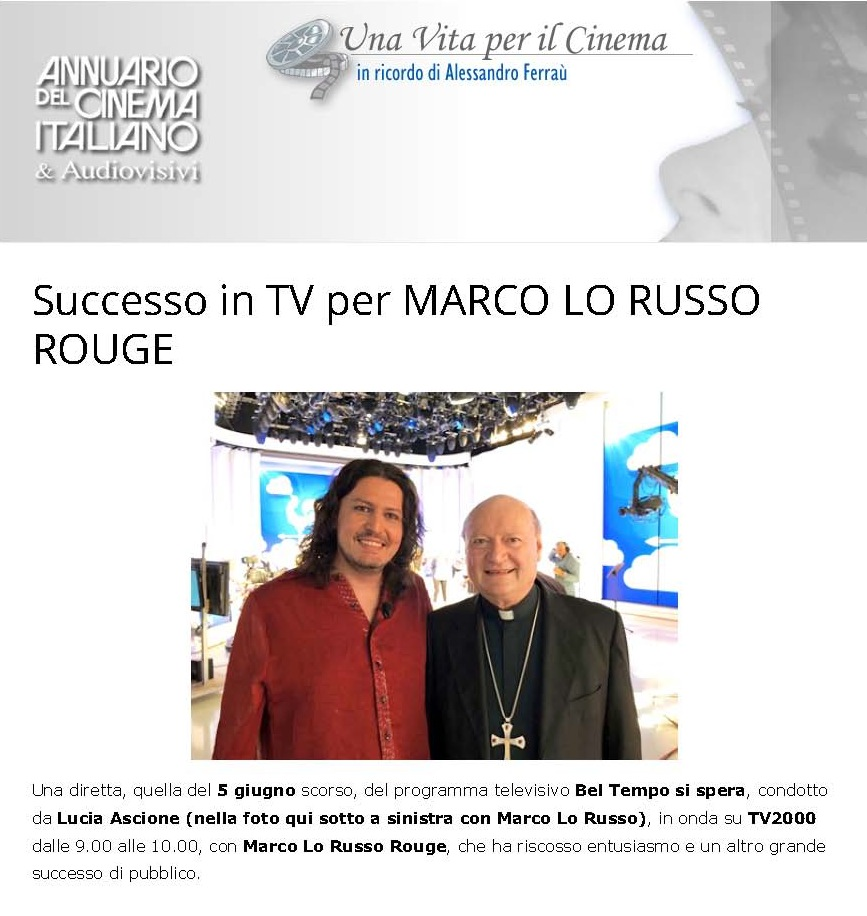 Successo in TV per MARCO LO RUSSO ROUGE_Page_1